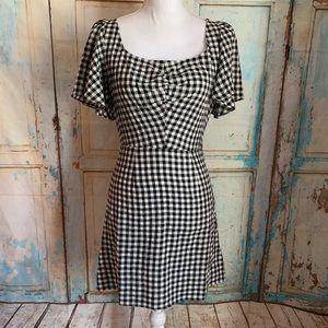 """LeRumi """"violet"""" checkered mini dress"""